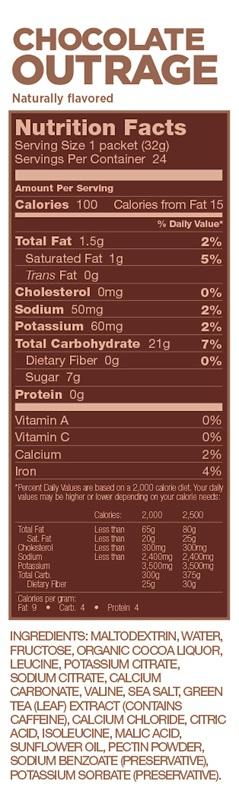 GU CHOCOLATE OUTRAGE Energy Gel : 15