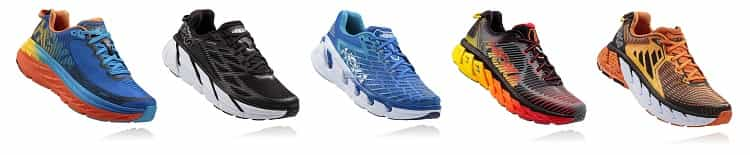 Mens Hoka road running shoe lineup